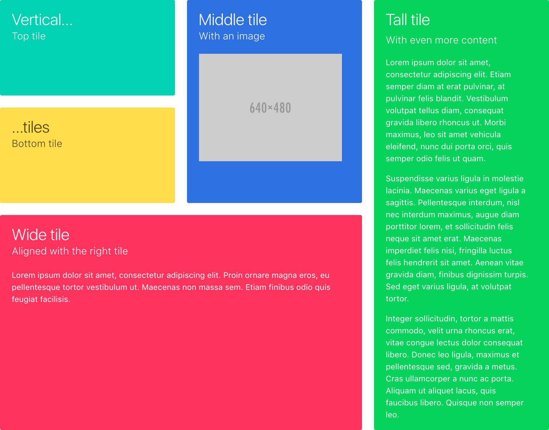 Metro UI grid tiles in CSS