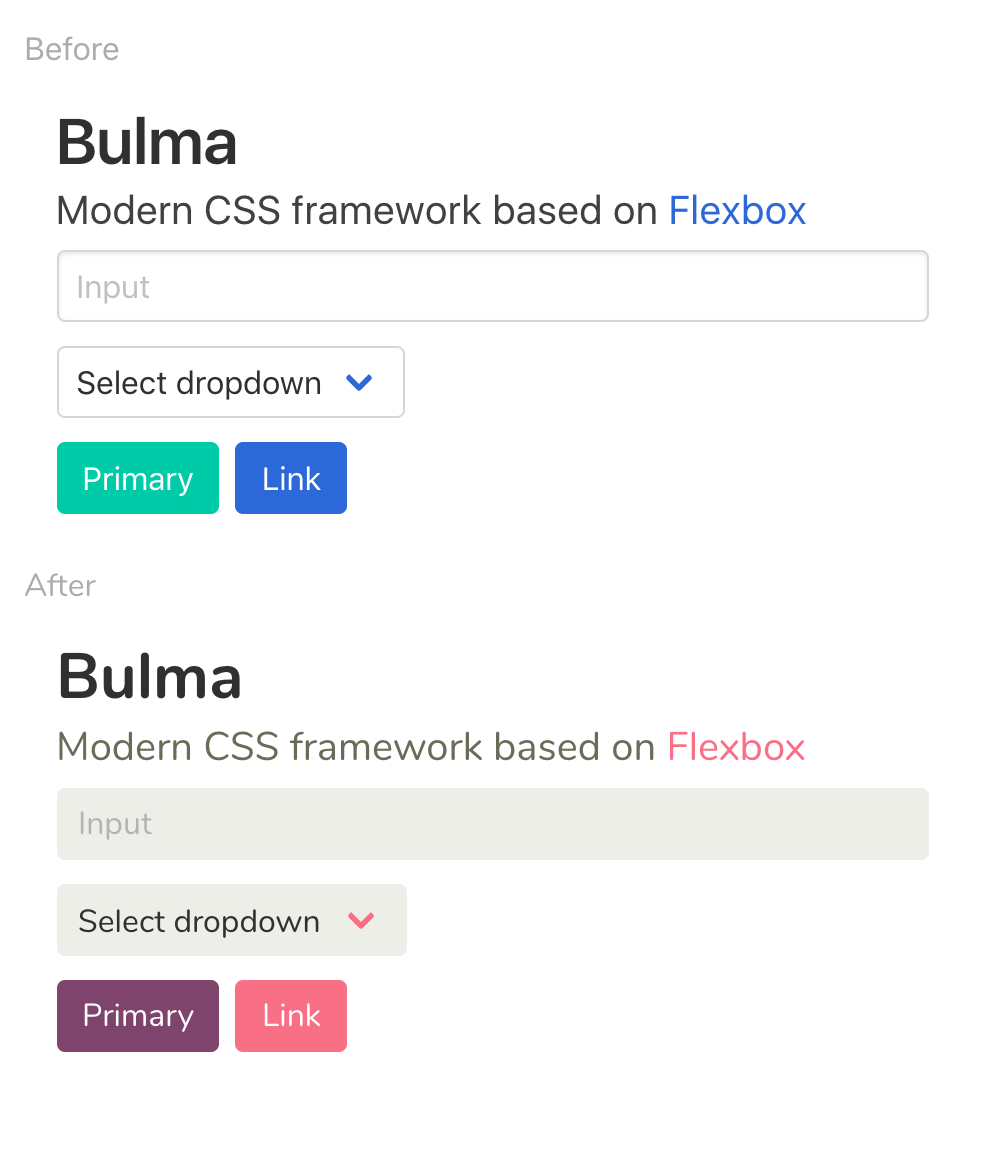 Bulma: Free, open source, and modern CSS framework based on